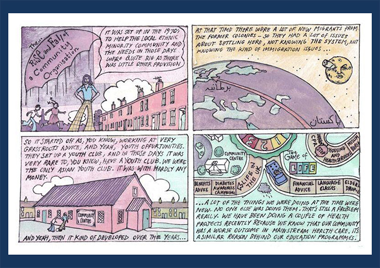'Community organisation' comic strip part 1