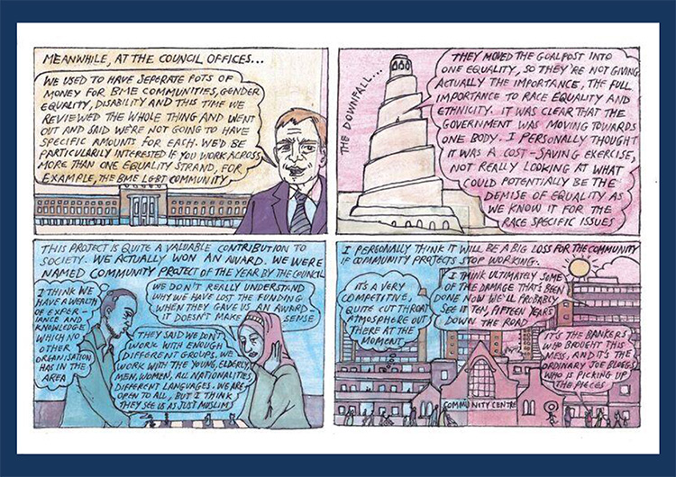 'Community organisation' comic strip part 3